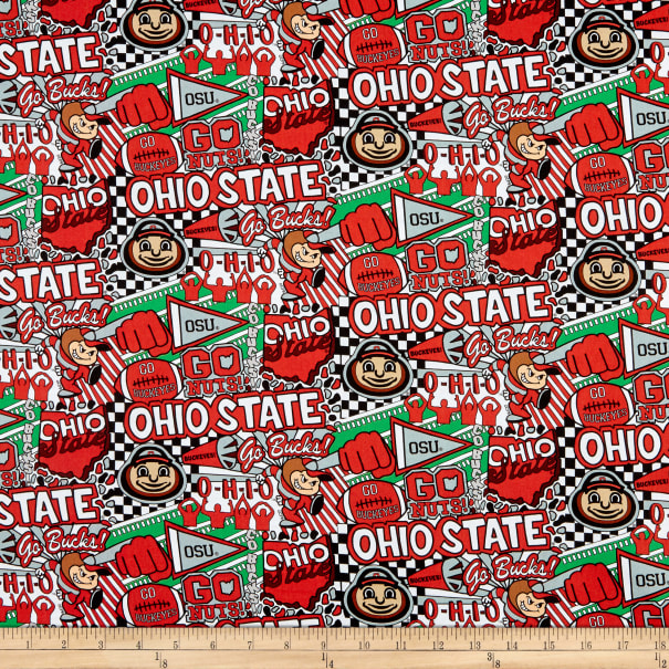 NCAA Ohio State Buckeyes Pop Art Cotton