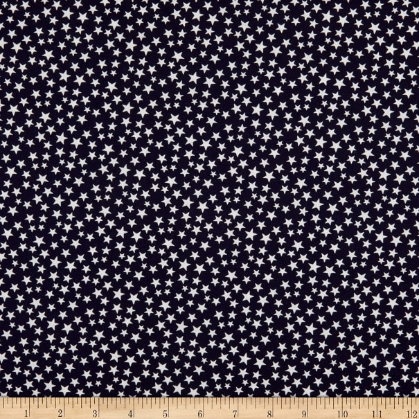 "Patriotic 108"" Quilt Backs Stars Dark Navy/Antique"