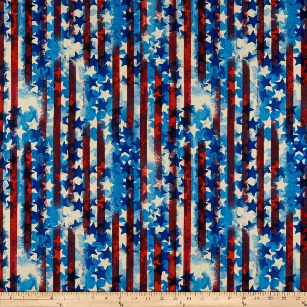 United We Stand Abstract Stripe Red/White/Blue