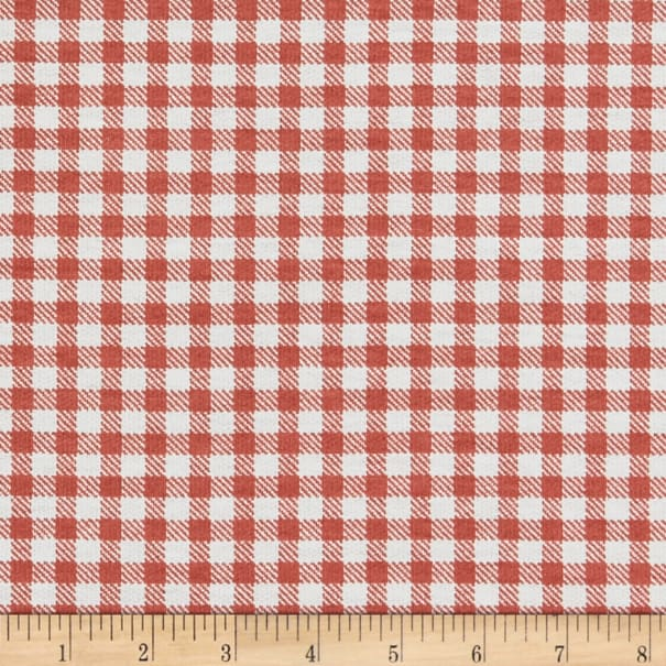 California Stretch French Terry Gingham Mauve
