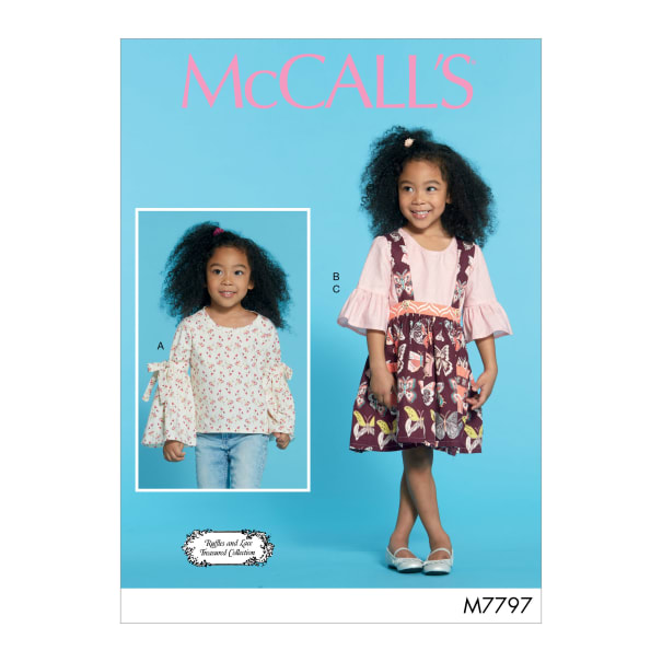 McCall's M7797 Ruffles and Lace Treasured Collection Children's/Girls' Tops and Skirt CDD (Sizes 2-3-4-5)
