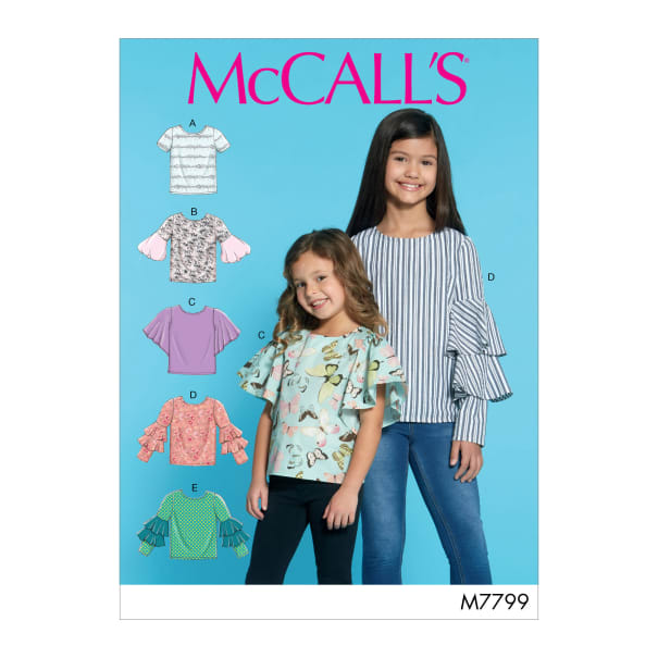 McCall's M7799 Children's/Girls' Tops CCE (Sizes 3-4-5-6)
