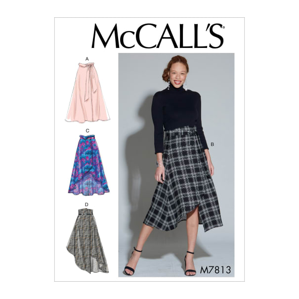 McCall's M7813 Misses' Skirts and Belt E5 (Sizes 14-22)