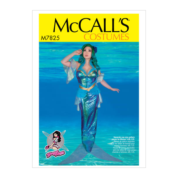 McCall's M7825 Yaya Han, A/B, C and D Cup Sizes Misses' Costume A5 (Sizes 6-14)