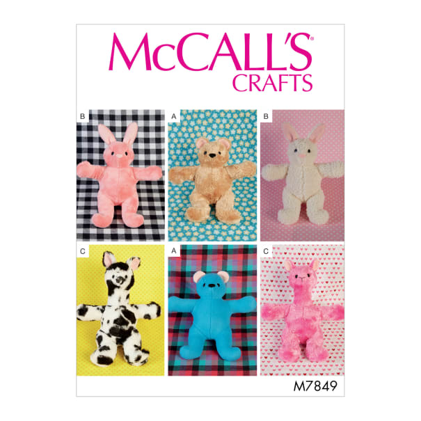McCall's M7849 Stuffed Craft Pattern OSZ (One Size)