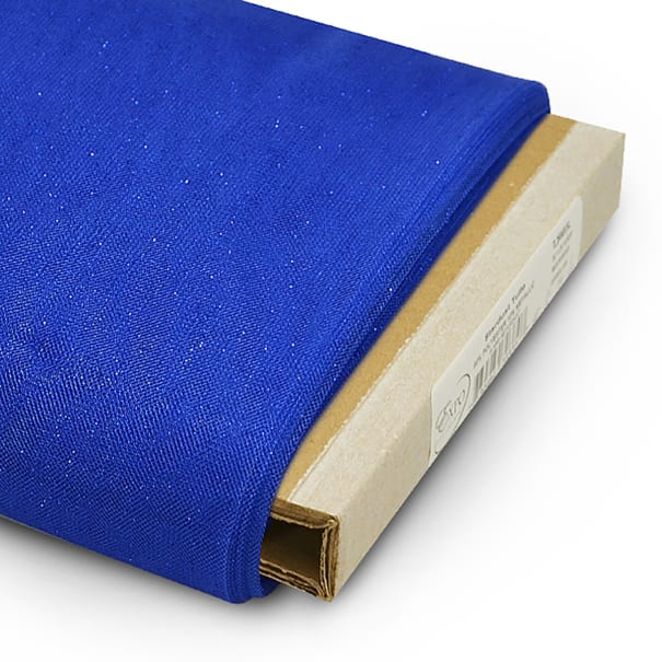 """54"""" Stardust Polyester Tulle Fabric (Bolt, 25 Yards) Royal Blue"""