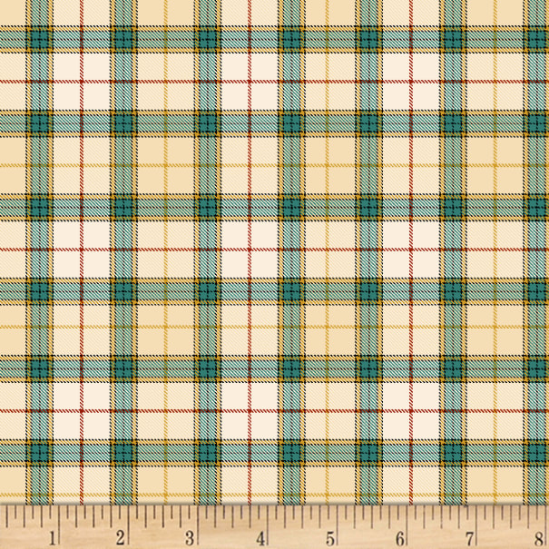 Henry Glass Live Within Your Harvest Plaid Cream