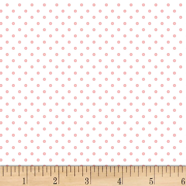P&B Textiles Basically Hugs Flannel Dots Ligt Pink