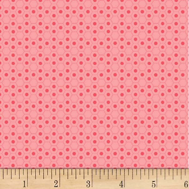P&B Textiles Basically Hugs Flannel Hexies Pink