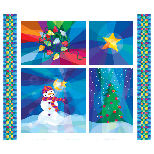 "P&B Textiles Winter Lights Holiday Lights 42"" Panel Multi"