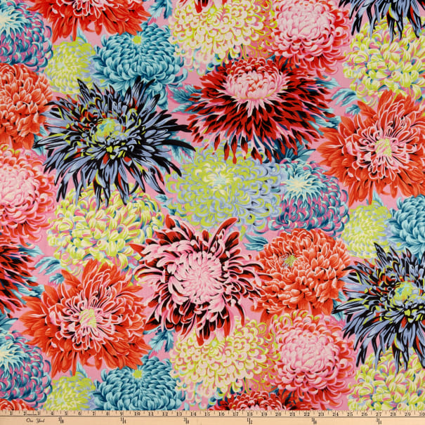 Kaffe Fassett Collective  for FreeSpirit Japanese Chrysanthemum Contrast