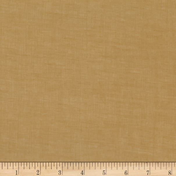 Kaufman Sophia Washed Lawn Solid Yellow Ochre
