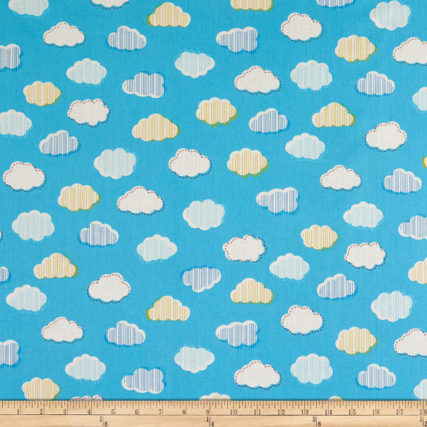 Windham Fabrics Bounce Clouds Sky