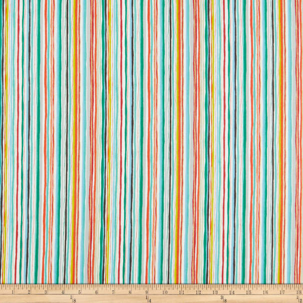 Andover/Makower UK Merry Wavy Stripe Multi
