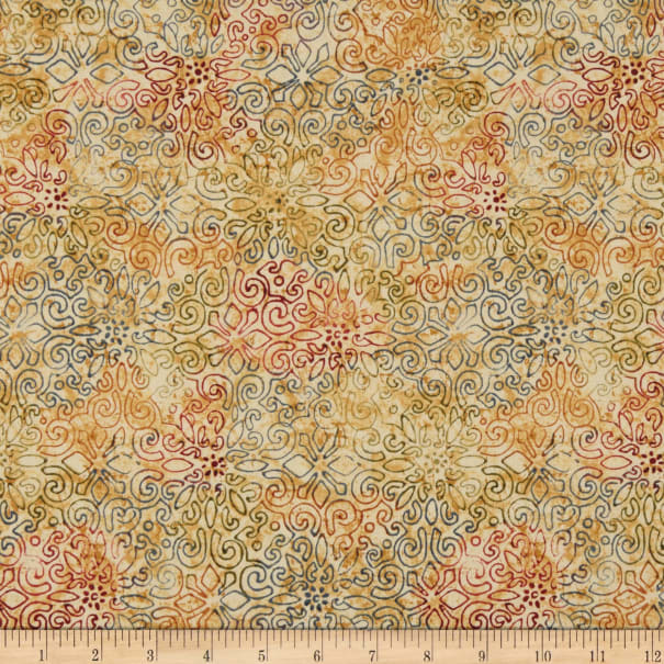 Timeless Treasures Tapestry Stencil Parchment Fabric Com