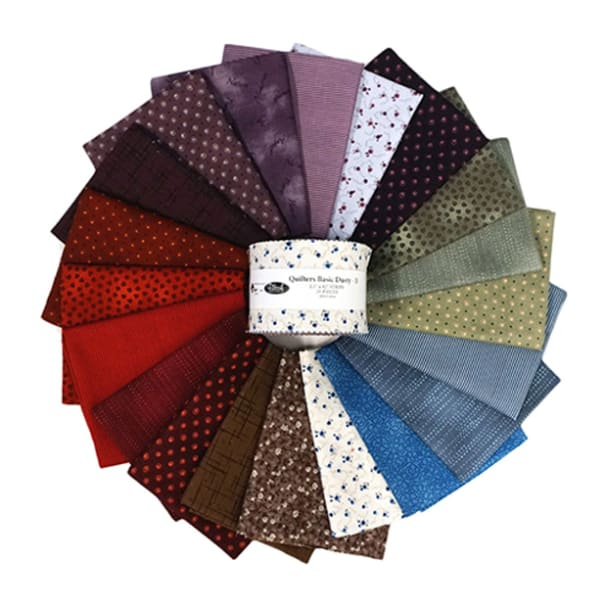 """Stoffabrics of Denmark  Quilters Basic Dusty B Assorted Color 2.5"""" Strips 20pcs"""