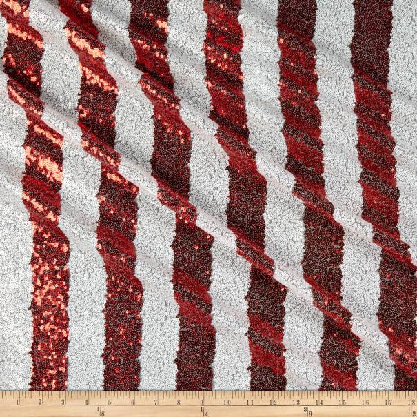 Starlight Fiesta Striped Sequin Red/White
