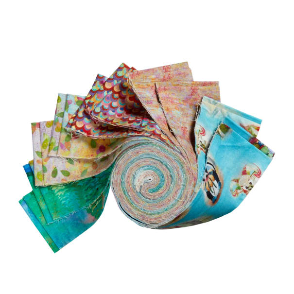 """Fabric Editions Wild And Whimsy 2.5"""" Strips. 20pcs."""