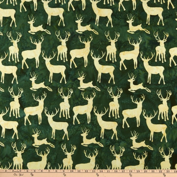 Island Batik Candy Cane Lane Deer Grouping Grass