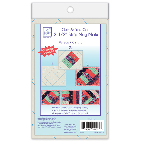 """June Tailor Quilt As You Go 2 1/2"""" Strip Mats -- 3 pack"""