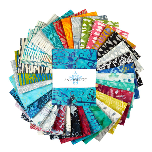 "Anthology Batiks Island Home 18"" Fat Quarter Bundle Multi 36 pcs"