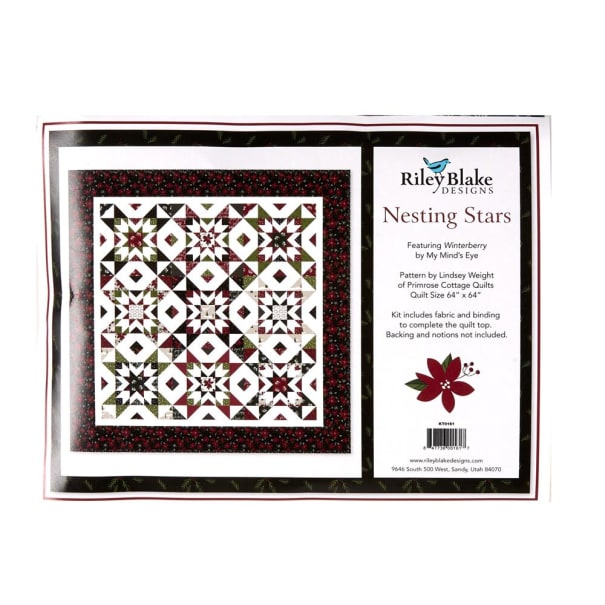 Riley Blake Nesting Stars Quilt Kit Using Winterberry