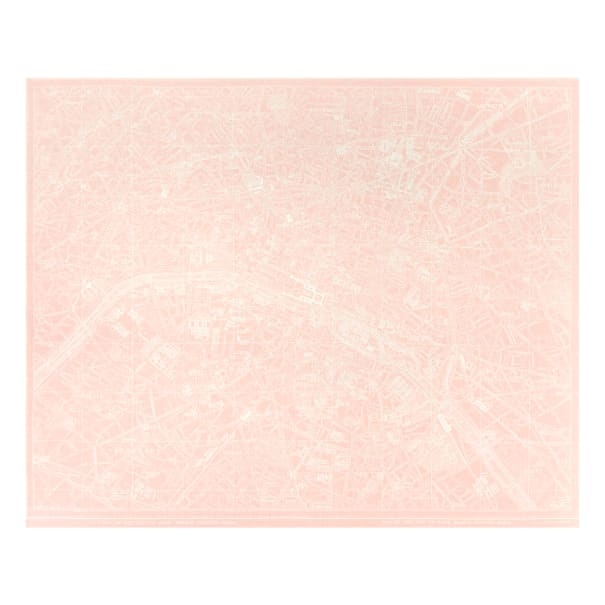 """Riley Blake Couture Parisienne City Map 36"""" Panel Pink"""