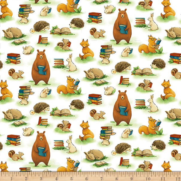 Paintbrush Studios Forest Fables Animals & Books White