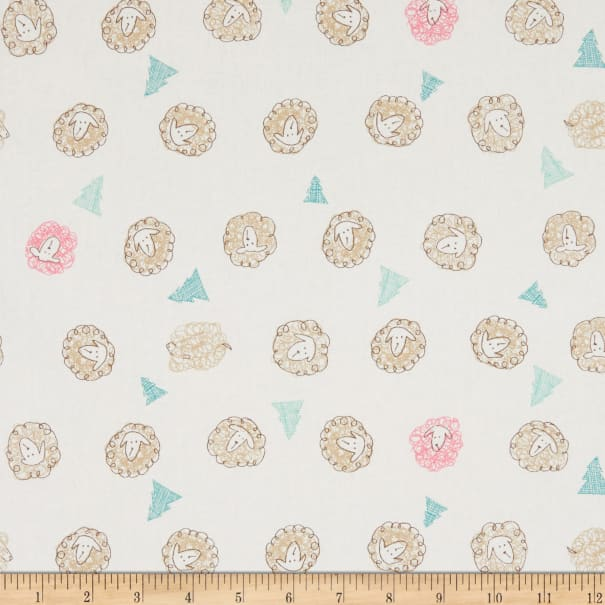 Cosmo Pretty Animals Sheeting White