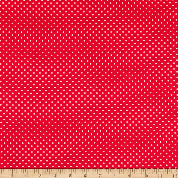P&B Textiles Basically Hugs Dots Red