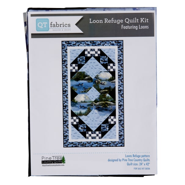 """QT Fabrics Loons Quilted Wall Hanging Kit 24"""" x 42"""" Multi"""