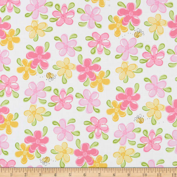 Susybee/'s LAL the Lamb Pink Stripes 100/% cotton fabric by the yard