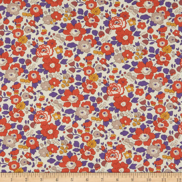 Liberty Fabrics Tana Lawn Betsy Rust/Purple