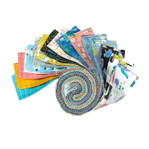 """Windham My Cup Of Tea 2 1/2"""" Strips Multi 40pcs"""