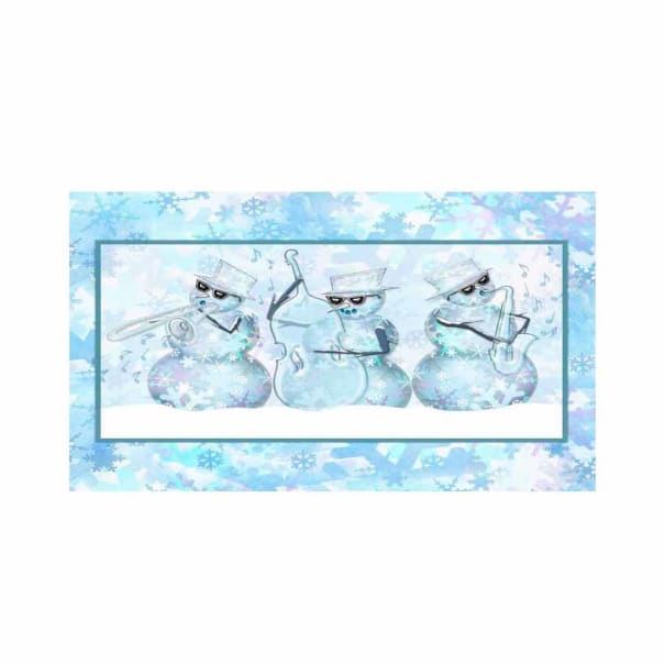 """Springs Creative The Blues Brothers Christmas 36"""" Panel Blue"""