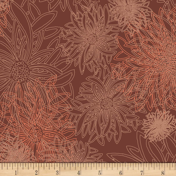 Art Gallery Floral Elements Spicy Brown