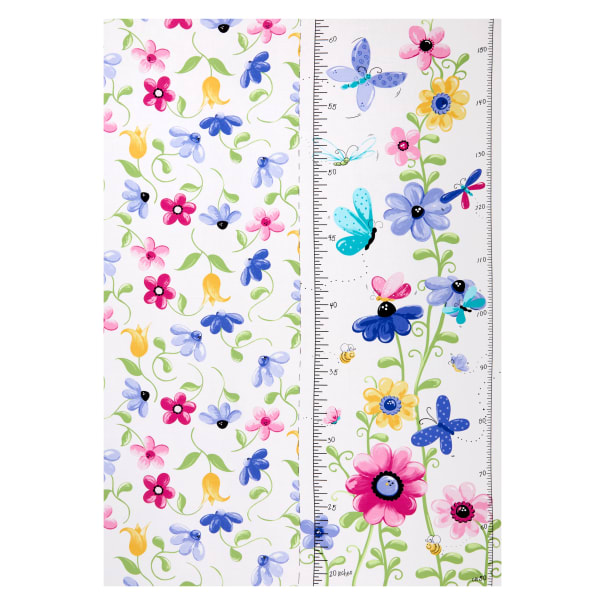 """Susybee Flutter the Butterfly growth chart 30"""" panel Lilac"""
