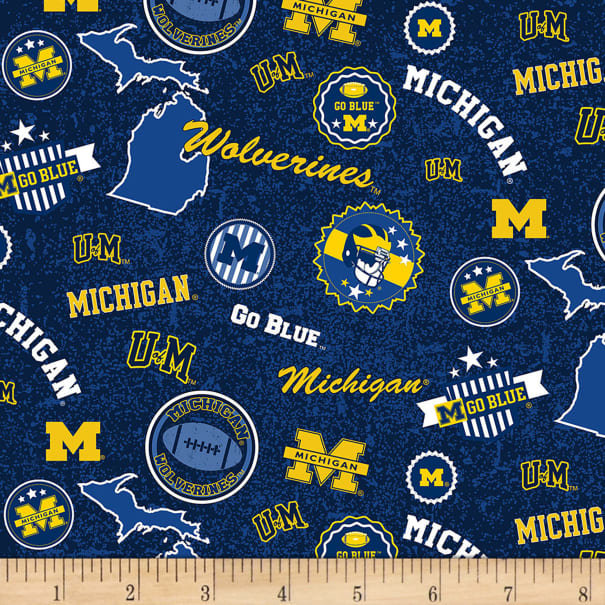 NCAA Michigan Wolverines Home State Blue/Navy/Yellow/White