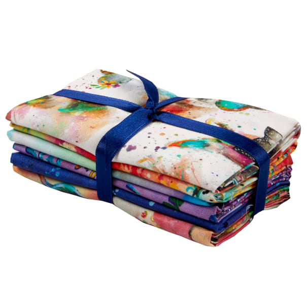 Sassier Animals Digital Fat Quarter Bundle 6pcs Multi