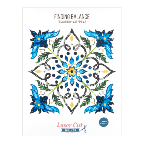 Laser Cut Quilts Finding Balance Laser Cut Applique Kit