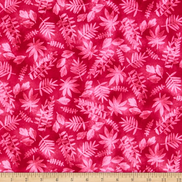Tropical Zone Leaf Texture Pink