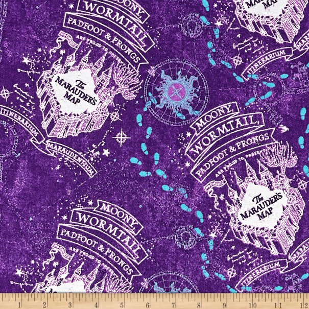 10 Designs Flannel Brushed Cotton Harry Potter Fabric Material