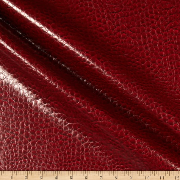 Non-Backed Crocodile Faux Leather Burgundy