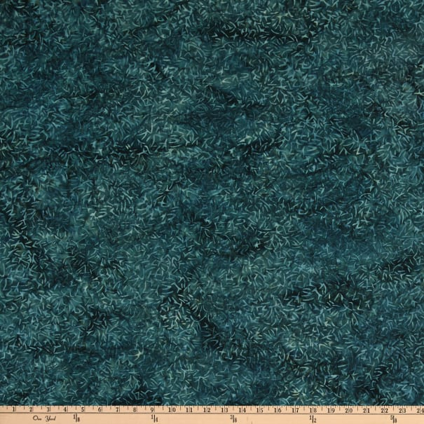 Island Batik Tweet Dark Lagoon Pine Needles