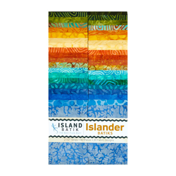 "Island Batik Islander 2.5"" Strips 40 pieces"