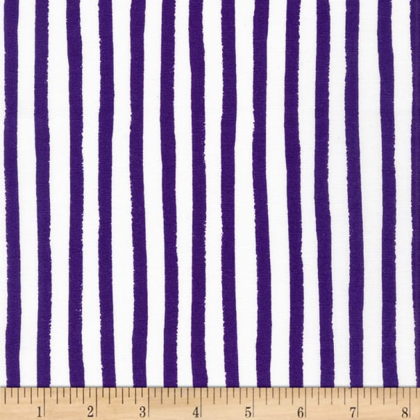 Kaufman Dot and Stripe Delights Stripes Purple