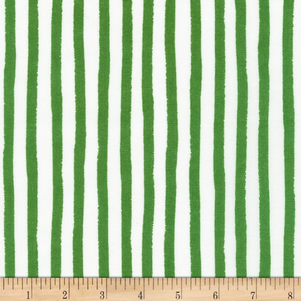Kaufman Dot and Stripe Delights Stripes Green