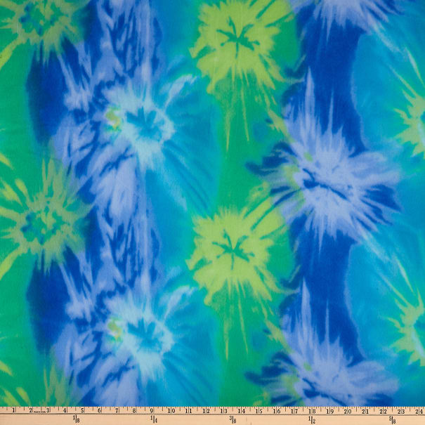 Polar Fleece Java Tie Dye Lagoon