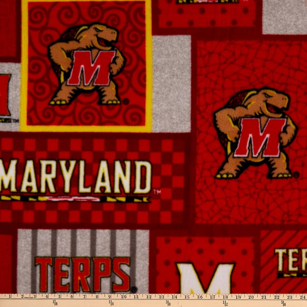 NCAA Maryland Terrapins College Patch Fleece Multi