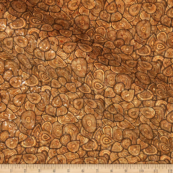 Belagio Cork Fabric Floral Brown